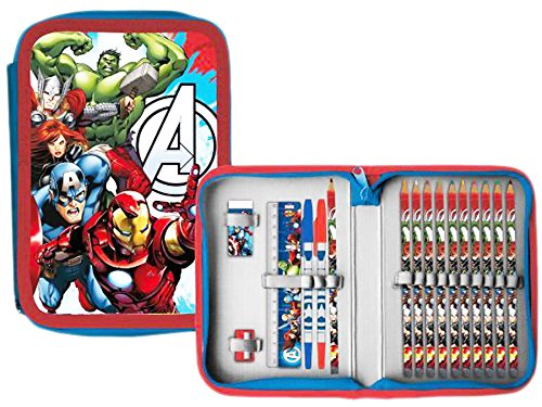Avengers–Estuche escolar garnie 1Zip Navidad Avengers Hulk Captain America