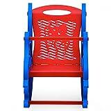 Nilkamal Dolphin Rocker Kids Chair (Blue and Red)