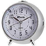 Ravel LED Quartz Alarm Clock, Silver