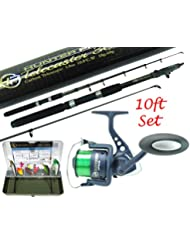 Pike Fishing Spinning Kit 6ft or 8ft Carbon Concept Rod, NGT Reel & Tackle Box Pike Set