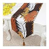 JUNYZZQ Tischläufer Tabelle Flagge Chinesische Stickerei Gartentisch Flagge Tischdecke Couchtisch Bett Bett Bord Flagge Tisch Lange Tischdecke Stoff 30X200 cm