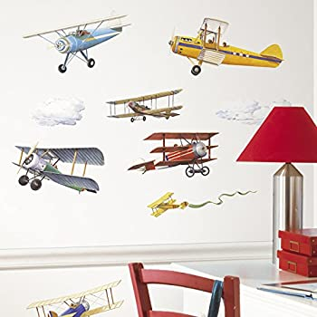 RoomMates Repositionable Childrens Wall Stickers Vintage Planes Part 15