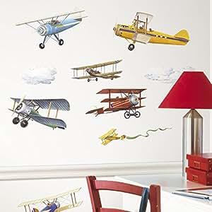 "RoomMates Stickers muraux ""Avions"" Enfant Repositionnable"