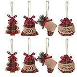 EasyBravo Adornos de árbol de Navidad Adornos de árbol de Navidad en Forma de Bola de Almacenamiento de Bell de árbol, 8 Piezas