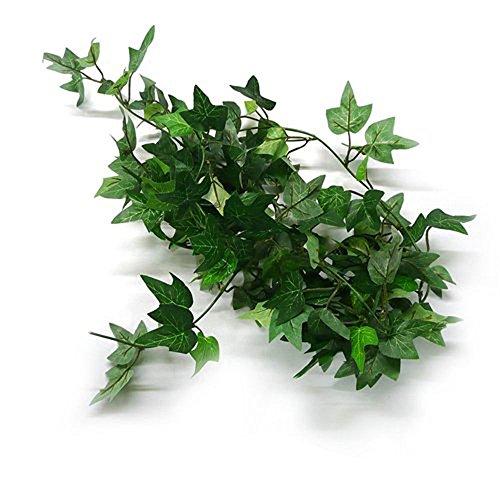 icher Efeu Girlanden zum Aufhängen Greenery Wanddekoration Blätter, Stoff, grün, Einheitsgröße (Fake-efeu-blätter)