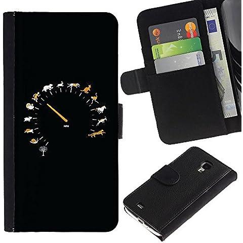 Momo Phone Case / Protettiva Custodia Flip Wallet in pelle - Animal velocità Tachimetro - Samsung Galaxy S4 Mini i9190