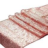 Busirde Ducha 30x180cm de Las Lentejuelas del Brillo de la Bandera de la Boda del cumpleaños del bebé Camino de Mesa Mantel Oro Rosa 30 * 180cm