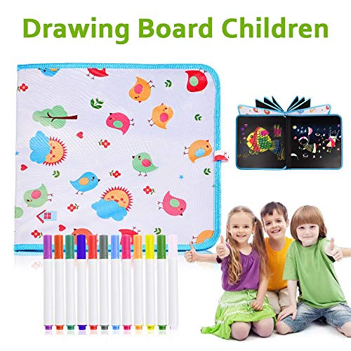 STLOVe Tabla de Dibujo Portátil para Niños,Tablero de Dibujo de Graffiti,Innovadora Pizarra para Dibujar Durante Viajes… 1