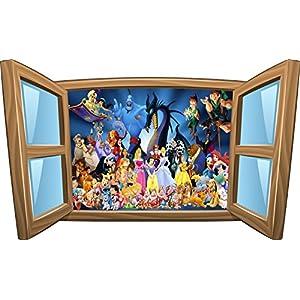 Wandtattoo, Kinder, für Fenster, Motiv Disney, Ref.-Nr. 1019, 80x48cm