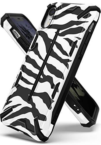 Ringke Dual-X Design Kompatibel mit iPhone XR [Zebra White] PC TPU Dual Layer Kratzfest Bewehrt Schwerlast Cover Stoßfest Case Ergonomisch Robust Stylish Panzer Handyhülle für iPhone XR Schutzhülle Zebra Design Cover Case