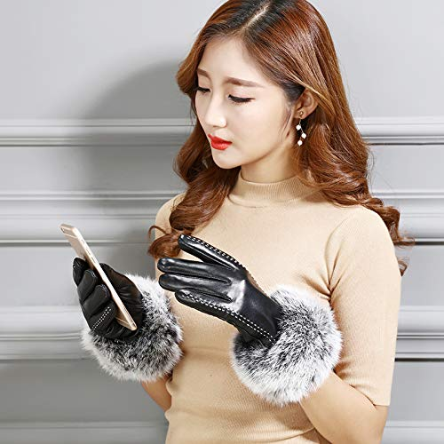 51XdPOXDciL. SS500  - Q_STZP Gloves glove mitten Leather gloves ladies touch screen autumn and winter warm waterproof windproof cycling motorcycle riding plus velvet thick gloves