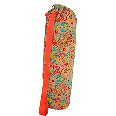 """Yogatasche - Yogamatten Tasche - für Yoga / Pilates / Fitness-Studio """"FANTASY"""" – 73cm hoch x 17cm Durchmesser. Für Standard-Matten und große - Mit Innenfutter für zusätzlichen Schutz - Handmade"""