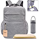 Multi-Pocket Backpack Diaper Bag Insulated Pockets Anti-Water Material Sundry Bag Moms And Dads