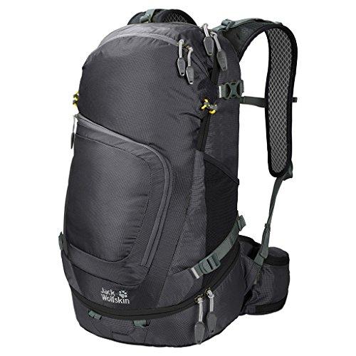 Columbia Laptop-rucksack (Jack Wolfskin Crosser 26 Pack Wandern Outdoor Trekking Rucksack, Black, 55x33x7 cm)