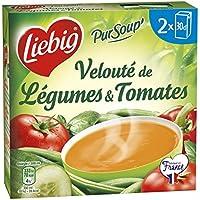 Liebig Pursoup veloute de legumes et tomates Les 2 briques de 30cl, soit 60cl - Prix Unitaire - Livraison Gratuit...