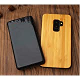 Samsung Galaxy S9 Plus Wood Case - Coco Laser Carving Marked Galaxy S9 Plus Wooden Case with Durable Polycarbonate Bumper Slim Covering Case 2018 Released - Bamboo (S9 Plus)