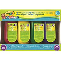 Crayola Disney Set 4 Bote Pintura Dedos 147ml 22x15, (Nomaco 3239)