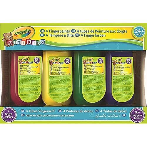 jirafa kawaii para colorear y mas Crayola 3239 - 4 Pinturas De Dedos (150Ml X4)