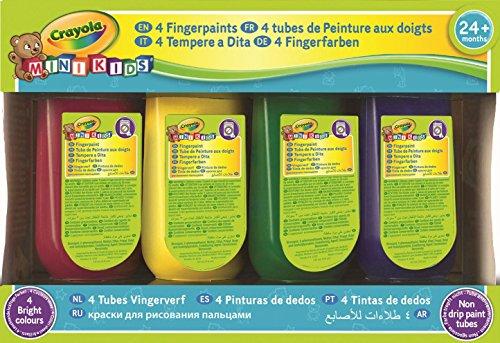 Crayola Mini Kids - 323900 - Dessin et Peinture - 4 Flacons de Peinture au Doigt