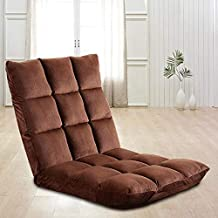 Mini sofá pequeño Lazy ocio Balcón plegable silla de salón suelo plegable con respaldo ajustable cómoda