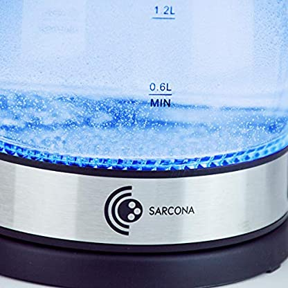Sarcona-Design-Glas-Wasserkocher-18-Liter-Edelstahl-Heizelement-2200-Watt-mit-LED-Beleuchtung-Trockenlaufschutz-BPA-frei-360-Basis-schwarz