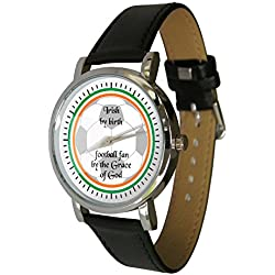 Irish Football Fan Design Watch. Football Gift. Genuine Leather Strap