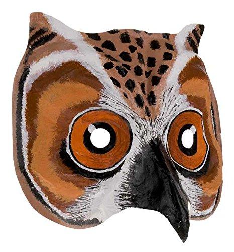 Prezer Eulen Elue Owl Maske Handbearbeitet