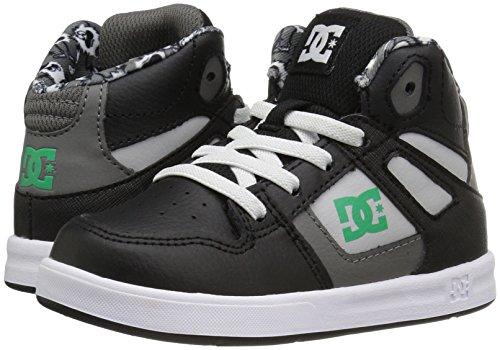 DC  TODDLERS REBOUND SE UL, Baskets pour garçon Black/Green/White