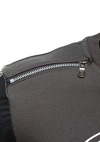 BOLF Herrenpullover Sweatshirt Langarm Sweatjacke Sport 1A1 Motiv Dunkelgrau