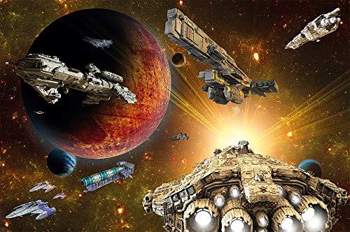 GREAT ART Foto Mural Aventura en la Galaxia- Decoración Misión Espacial. Póster viaje a las estrellas (336x238 cm)