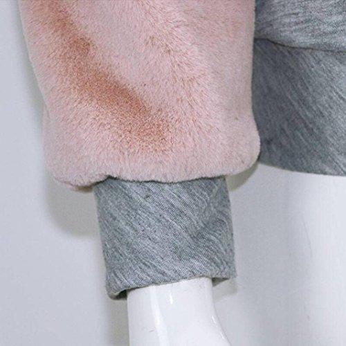 Femmes Sweatshirt, O Cou Patchwork Cachemire Pull Manches Longues Gris