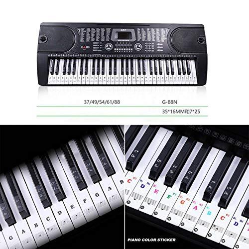 VIOYO Transparente 54 Teclado Musical Teclas De Notas