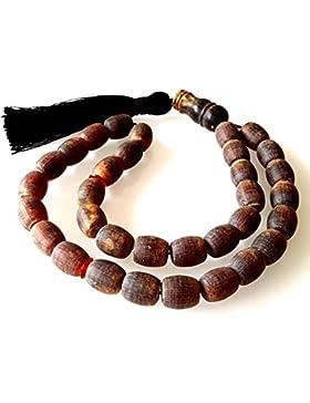 Baltischen Bernstein Gebetskette / Roh Bernstein / Tesbih Islamische Gebetskette 33 Perlen