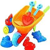 Vococal - 8 Stück Kinder Strandspielzeug - Graben Sand Spielzeug - Strand Sand Cart Spielzeug Satz, Zufällige Farbe