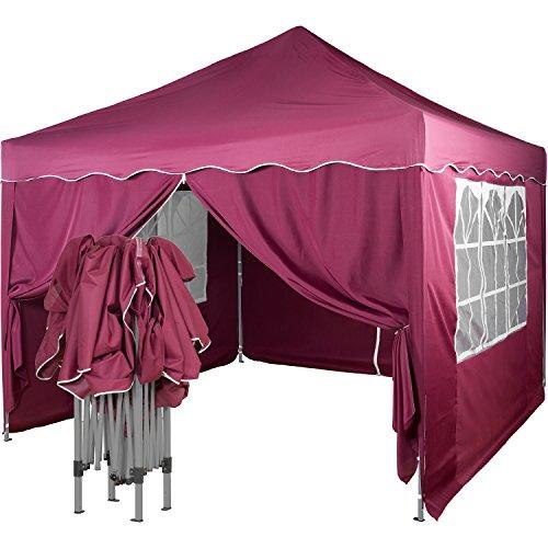 INSTENT Pavillon, Faltpavillon 3x3m, WASSERDICHT (DIN ISO Zertifiziert), Auswahl: Seitenteile +...