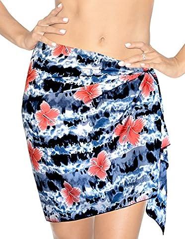 La Leela Likre Floral Beach Hawaiian Pareo Mini Wrap Sarong