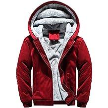 97f89817d7ad Luckycat Herren Hoodie Winter Warm Fleece Zipper Sweater Jacke Outwear  Mantel Tops Blusen Winterjacke Steppjacke Daunenjacke