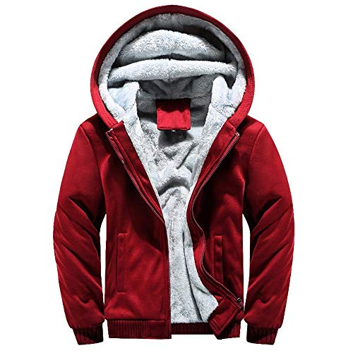 4098c345b8ea1d Luckycat Herren Hoodie Winter Warm Fleece Zipper Sweater Jacke Outwear  Mantel Tops Blusen Winterjacke Steppjacke Daunenjacke