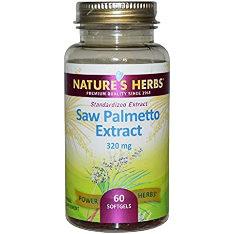 Nature's Herbs Saw Palmetto Extract Softgels, 320 Mg, 60 Count