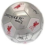 Liverpool FC offizieller Unterschriften Fußball (Größe 5) (Silber)