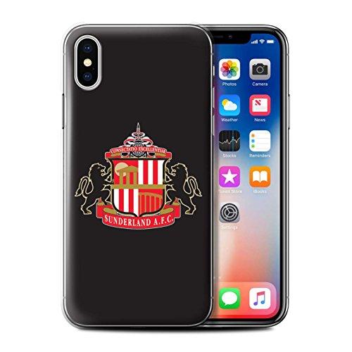 Offiziell Sunderland AFC Hülle / Case für Apple iPhone X/10 / Rot/Schwarz Muster / SAFC Fußball Crest Kollektion Schwarz