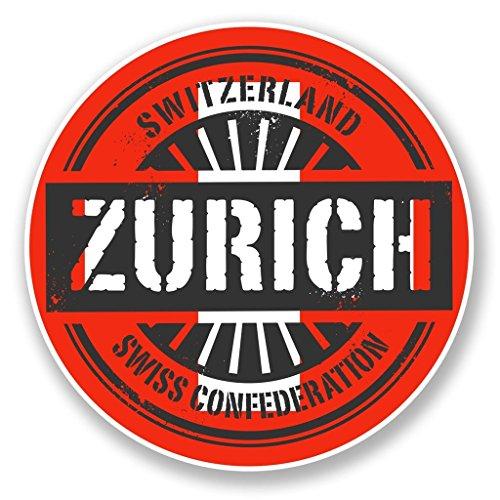 2-x-zurich-schweiz-vinyl-aufkleber-aufkleber-laptop-reise-gepack-auto-ipad-schild-fun-charming-10cm-