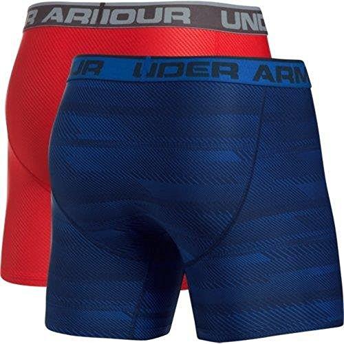 ... Under Armour Herren Original 6in 2 Pack Novlty Unterhose, Königsblau /  Rot, S Royal ...
