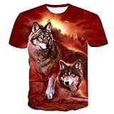 serliyHerren T-Shirts 3D Printing Lässige Slim Kurzarm mit Aufdruck,Rundhals Sport Spaß Motiv Tee Hemd mit kurzen Ärmeln Lässige T-Shirt