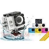 SPORT CAM TELECAMERA 1080P SUBACQUEA 12 MPX VIDEOCAMERA HD FOTO E VIDEO SPETTACOLARI