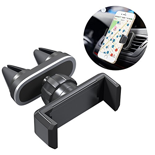 Comsoon Support Téléphone Voiture à Grille d'Aération avec Pivot 360° Dual Base de Montage Support Voiture Auto Universel pour iPhone X/8/7 Plus/6S, Samsung Galaxy S9/S8 Plus, Sony, GPS etc