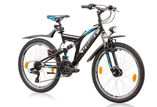 tretwerk DIREKT gute Räder Sport 24 Zoll ATB Mountainbike, Jungen-Fahrrad 21 Gang Kettenschaltung -