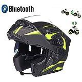 MOTO F19 Matt White /· Sport Modular-Helmet Casco da motocicletta modulare Urban Cruiser Urbano Integrale Scooter Flip-Up Moto /· ECE certificato /· con due visiere /· compresi Sacchetto portacasco /· Bianca /· L 59-60c