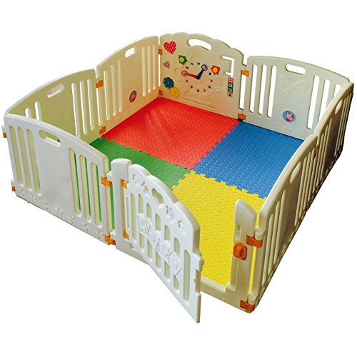 NEW Venture ALL STARS Baby Playpen | 8 Pcs Including Fun Activity Panel | Fitted Floor Mats And 200 Bright Coloured Play Balls | Strong And Duable – Made From High Quality Non-Toxic Materials