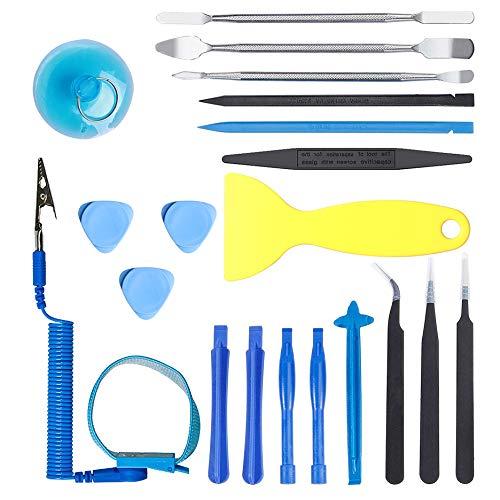 Kinstecks 20-in-1-Reparatur-Set zum Öffnen, mit antistatischer Handschlaufe für die Reparatur von iPhone iPad Samsung HTC LG Sony Handy Tablet MacBook Laptop (Lg Für Handy-bildschirm-reparatur-kit)